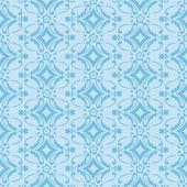 Azul sem costura padrão floral — Vetor de Stock