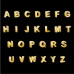 Gold Alphabet 3D Letters — Stock Vector #20978397