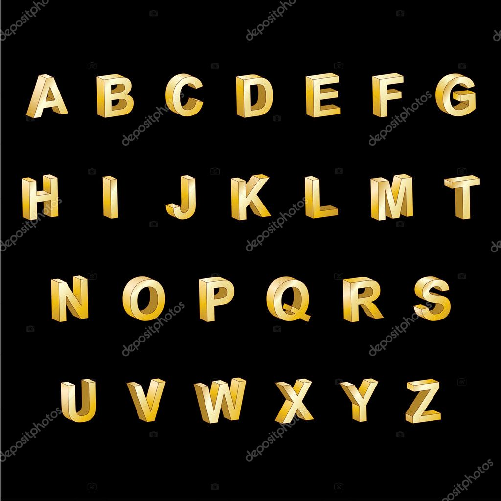 how to make 3d alphabet letters