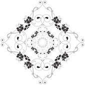 Vintage Floral Pattern Circle Design — Stock Vector
