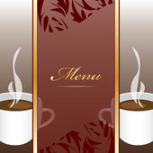 Coffee menu design background — Stock Vector