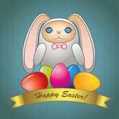 Velikonoční králík — Stock vektor