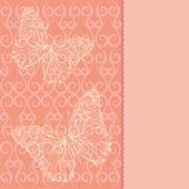 Karta z motylami — Wektor stockowy