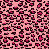 Rosa leopardenfell — Stockvektor