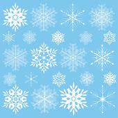 Snowklake set — Stok Vektör