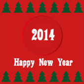 New year card 2014 — Stock Vector
