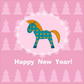 New year horse — Stock Vector