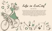 Ecocity — Stock Vector