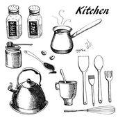 Kitchen set — Stockvector