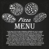 ピザのメニュー 5 — ストックベクタ