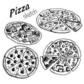 Pizza 1 — Vector de stock