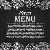 ピザのメニュー 6 — ストックベクタ