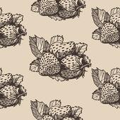 Strawberry pattern 1 — Stockvector