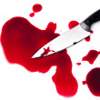 Bloody knife with blood splatter — Stock Photo #12283172