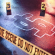 Concept of bankruptcy with a crime scene — Stock Photo