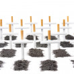 Smoking kills, smokers graveyard concept — Stock Photo