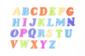 Magnetic letters isolated on white — Stock Photo