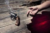 Cometeu suicídio de homem com uma arma — Foto Stock