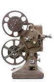 Projetor de filme velho isolado no branco — Fotografia Stock