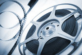 Movie spool with film — Stock Photo