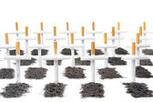Smoking kills, smokers graveyard concept — Stock Photo