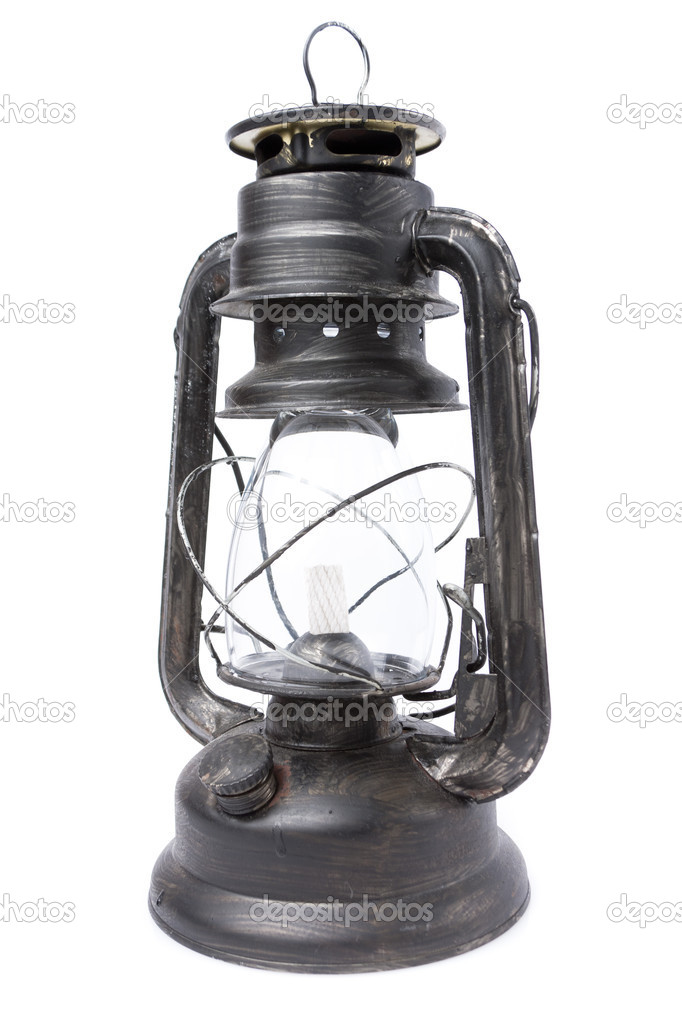 Retro kerosene lamp isolated on white  Stock Photo #12283389