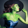 Cute and Sexy Halloween witch — Stock Photo