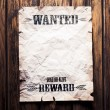 Wanted vintage poster with dramatic light — Foto de Stock