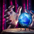 Fortune teller's Crystal Ball with dramatic lighting — Stock Photo