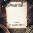 Old west background with wanted poster — Stock Photo