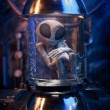 Alien inside a test tube — Stock Photo
