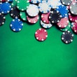 Stock Photo: Casino chips on gaming table