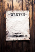 Wanted vintage poster with dramatic light — Stock Photo