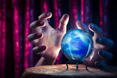 Fortune teller's Crystal Ball with dramatic lighting — Stockfoto