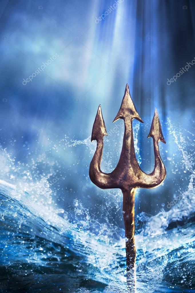 Poseidon Staff Tattoo: Stockfoto © Fergregory #38079981