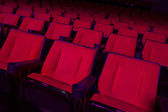 Rows of empty theater seats — Stock Photo