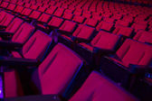 řádky prázdné divadlech — Stock fotografie