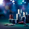 Poker Chips on gaming table — Stock Photo #45904473