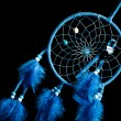 Dream catcher on a black background — Stock Photo
