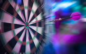 Dart about to hit target — Stock Photo