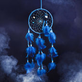 Dream catcher on a dark background — Stok fotoğraf