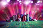 Kasyno poker żetony — Zdjęcie stockowe