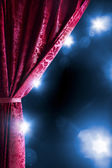 Theater curtain with dramatic lighting — Stok fotoğraf