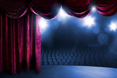 Theater curtain with dramatic lighting — Foto de Stock