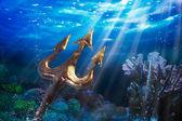 Trident underwater — Stock Photo