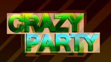 Crazy party — Stock Video