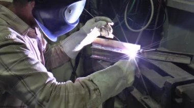 Welding argon — Stock Video
