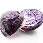 Purple cabbage over white background — Stock Photo