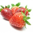 Strawberries over white background — Stockfoto