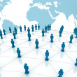 Social network concept over world globe map background — Stock Photo #12629840